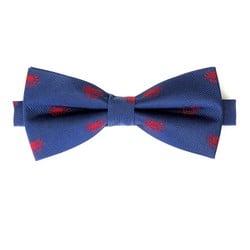 Mucha z jedwabiu wzorzysta, niebiesko - czerwony, 92-7I-001-X2, Zdjęcie 1