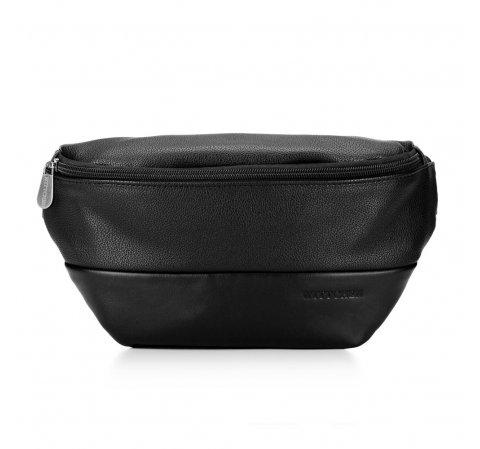 Męska torba nerka minimalistyczna, czarny, 92-3P-503-1, Zdjęcie 1