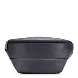 Męska torba nerka minimalistyczna, granatowy, 92-3P-503-7, Zdjęcie 1