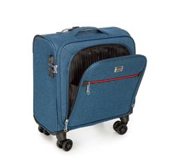Neseser z kolorowym suwakiem, niebieski, 56-3S-505-91, Zdjęcie 1