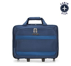 Rolling tote, navy blue, 56-3S-584-90, Photo 1