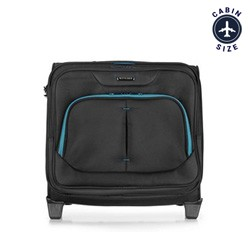 Rolling tote, black-blue, 56-3S-634-19, Photo 1