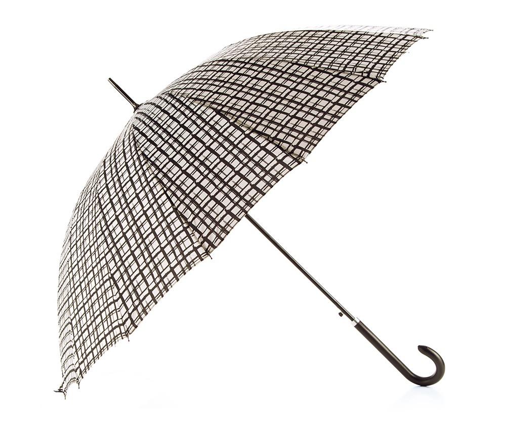 Зонт Wittchen PA-7-151-X1, бело-черныйЗонт<br><br>секс: женщина<br>Цвет: белый
