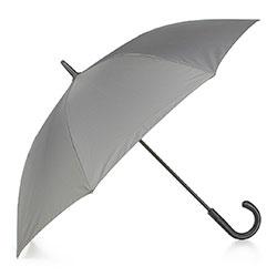 Semi-automatic umbrella with logo, light grey, PA-7-152-8, Photo 1
