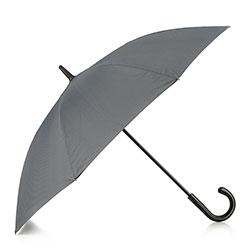 Semi-automatic umbrella with logo, grey-black, PA-7-152-X4, Photo 1
