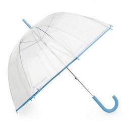 Parasol transparentny, błękitny, PA-7-190-TN, Zdjęcie 1