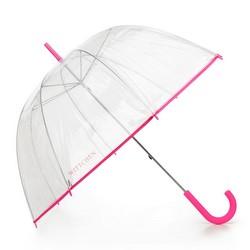 Parasol transparentny, różowy, PA-7-190-TP, Zdjęcie 1