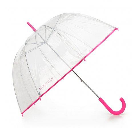 Parasol transparentny, różowy, PA-7-190-TN, Zdjęcie 1