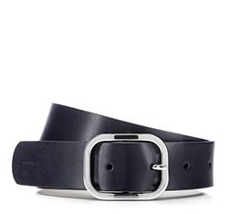 Women's belt, navy blue, 85-8D-304-7-S, Photo 1