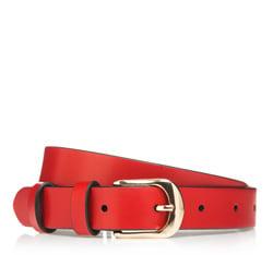 Pasek damski, czerwony, 85-8D-310-3-M, Zdjęcie 1