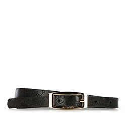 Pasek damski, czarny, 86-8D-302-1-M, Zdjęcie 1