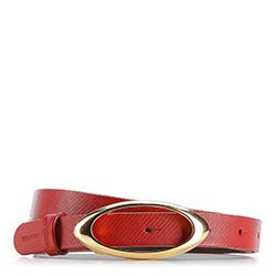 Pasek damski, czerwony, 86-8D-310-3-M, Zdjęcie 1