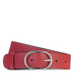 Pasek damski, czerwony, 87-8D-306-3-XL, Zdjęcie 1