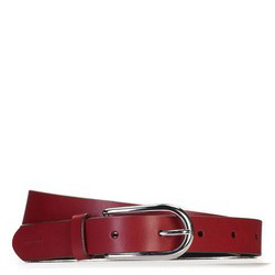 Pasek damski, czerwony, 87-8D-313-3-L, Zdjęcie 1