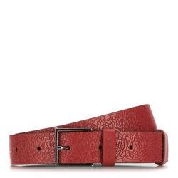 Pasek damski, czerwony, 89-8D-306-3-M, Zdjęcie 1