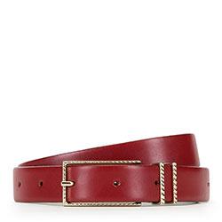 Pasek damski, czerwony, 89-8D-309-3-XL, Zdjęcie 1