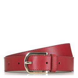 Pasek damski, czerwony, 90-8D-304-3-XL, Zdjęcie 1
