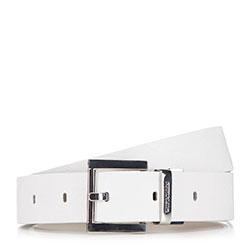 Pasek damski, biało - brązowy, 90-8D-305-0-S, Zdjęcie 1