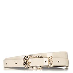 Women's belt, cream, 90-8D-314-9-L, Photo 1