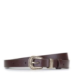Decorative leather belt, black, 92-8D-304-4-M, Photo 1