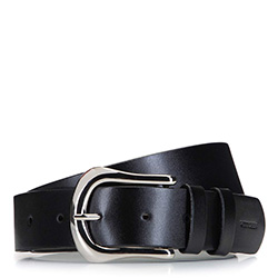 Women's belt with large buckle, black, 92-8D-902-1-S, Photo 1
