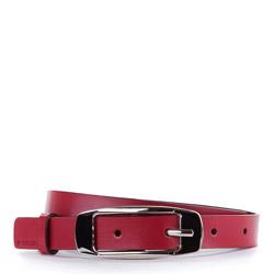 Pasek damski, czerwony, V10-08-321-3-L, Zdjęcie 1