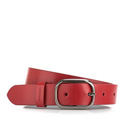 Pasek damski, czerwony, 84-8D-307-3-M, Zdjęcie 1