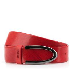 Pasek damski, czerwony, 84-8D-308-3-S, Zdjęcie 1