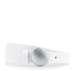 Pasek damski, biały, 84-8D-303-0-S, Zdjęcie 1