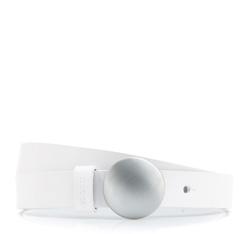 Pasek damski, biały, 84-8D-303-0-M, Zdjęcie 1