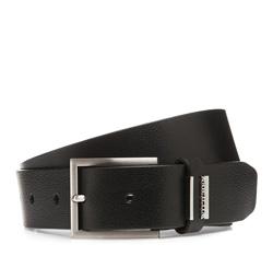 Men's belt, black, 85-8M-304-1-11, Photo 1