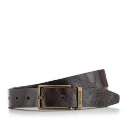 Men's belt, dark brown, 86-8M-300-4-13, Photo 1