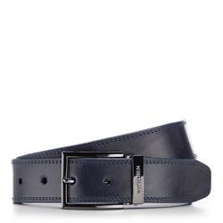 Men's belt, navy blue, 86-8M-301-7-10, Photo 1