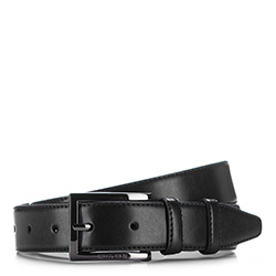 Men's belt, black, 86-8M-302-1-11, Photo 1