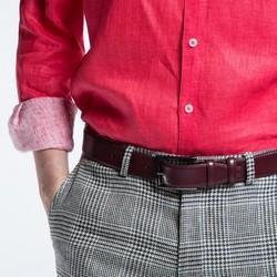Men's belt, burgundy, 86-8M-302-2-10, Photo 1