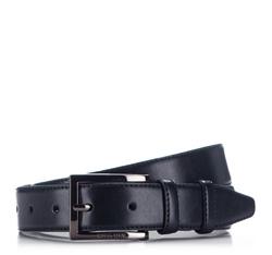 Men's belt, navy blue, 86-8M-302-7-12, Photo 1
