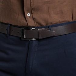 Men's belt, dark brown, 86-8M-305-4-10, Photo 1