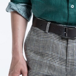 Men's belt, dark grey, 86-8M-305-8-11, Photo 1