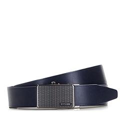 Men's belt, navy blue, 86-8M-306-7-11, Photo 1