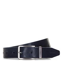 Men's belt, navy blue, 86-8M-307-7-10, Photo 1