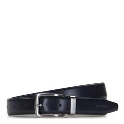 Men's belt, navy blue, 86-8M-308-7-11, Photo 1