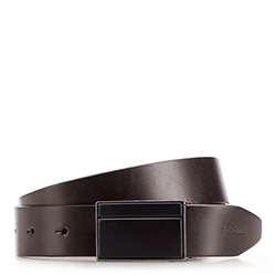 Men's belt, dark brown, 86-8M-309-4-10, Photo 1