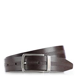 Men's belt, dark brown, 86-8M-310-4-12, Photo 1