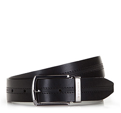 Men's belt, black, 86-8M-311-1-12, Photo 1