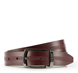 Men's belt, burgundy, 86-8M-311-2-12, Photo 1