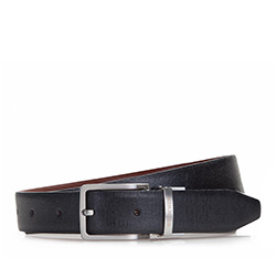 Men's belt, black, 86-8M-313-1-12, Photo 1