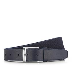 Men's belt, navy blue, 86-8M-314-7-12, Photo 1