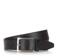 Men's belt, black, 86-8M-315-1-90, Photo 1
