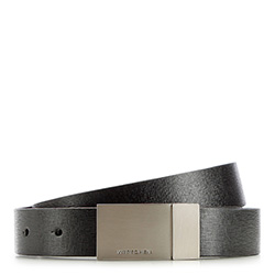Men's belt, black, 86-8M-317-1-10, Photo 1
