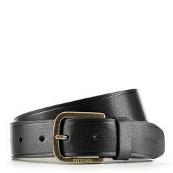Men's belt, black, 86-8M-318-1-90, Photo 1